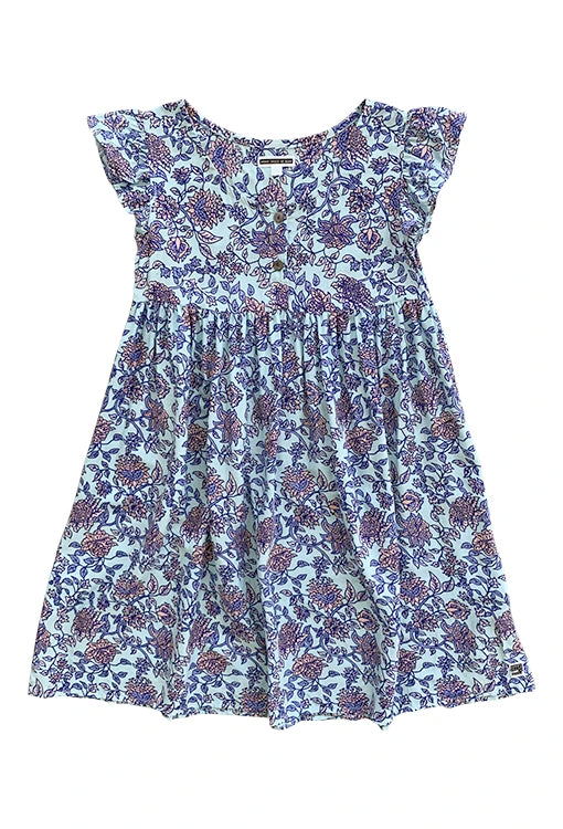 Babydoll Dress - Jardin Blue