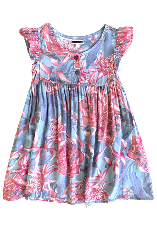 Babydoll Dress - Rose Grey