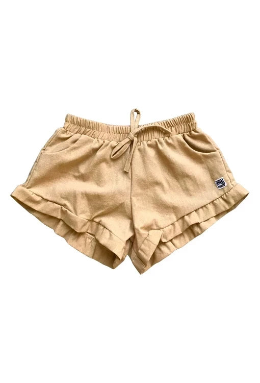 Bella Shorts - Linen Gold