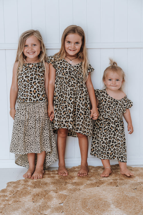 Babydoll Dress - Leopard