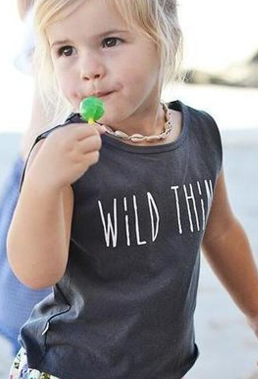 Wild Thing Muscle Tee - Faded Black