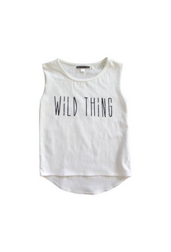 Wild Thing Muscle Tee - White