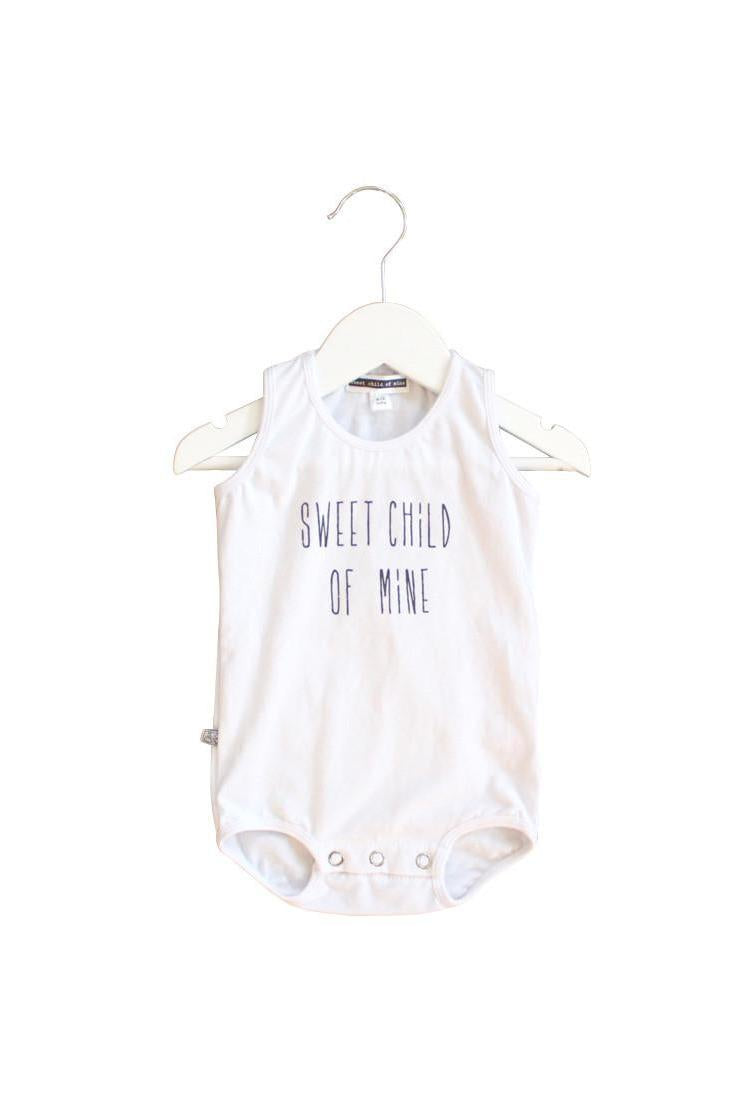 Sweet Child of Mine Sleeveless Baby Onesie