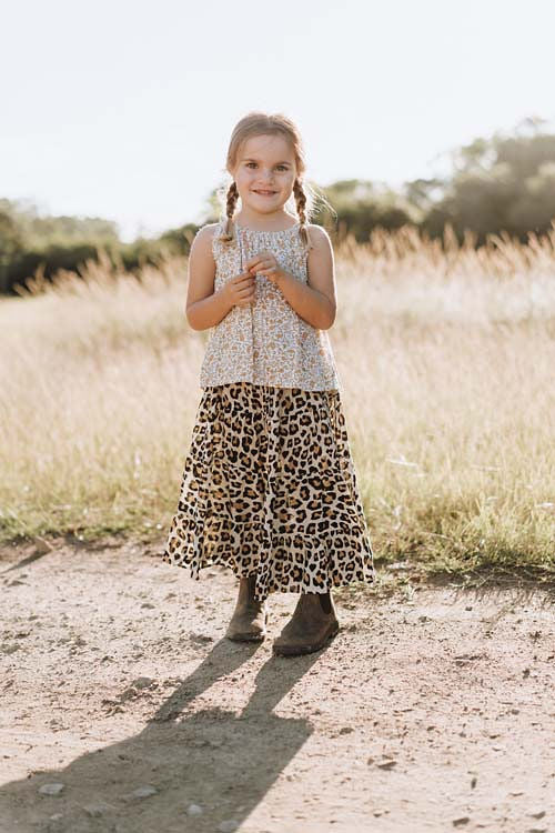 Flamenco Skirt - Leopard