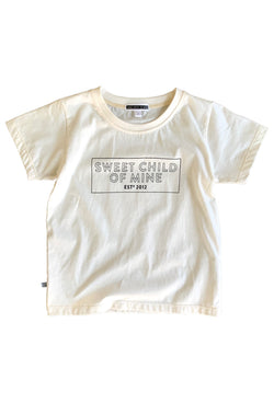 Sweet Child of Mine Block Logo Tee - Natural