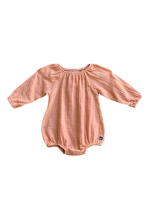 Scout Romper Long Sleeve - Textured Rosé