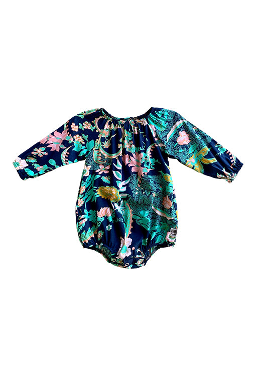 Scout Romper Long Sleeve - Flora Navy