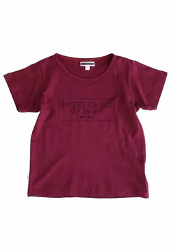 Sweet Child of Mine Block Logo Tee - Merlot