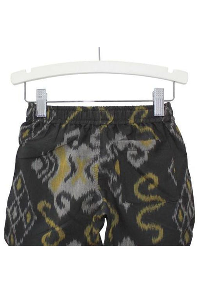 Thommo Walkshorts - Charcoal Woven IKat