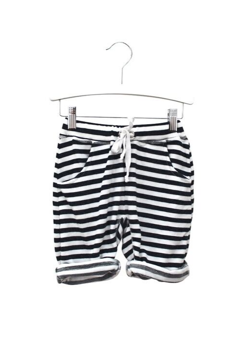 Lounge Trackie Shorts - Navy White Stripe