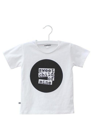 Sweet Child of Mine Circle Logo Tee - White