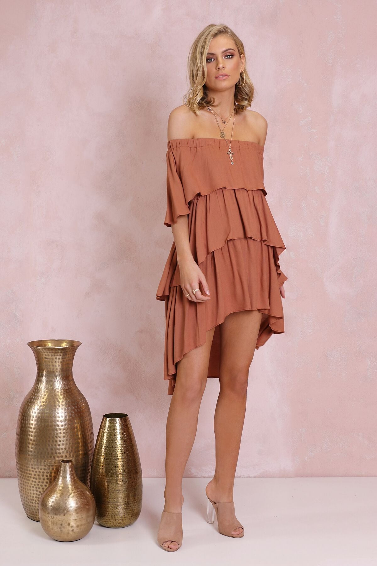 SANTANA OFF SHOULDER DRESS