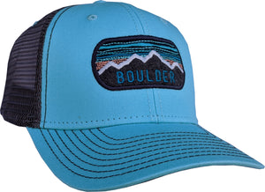 Boulder, CO Mountains Trucker Hat