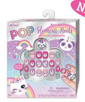 Pop Glamour Nails Kit With Matching Ring