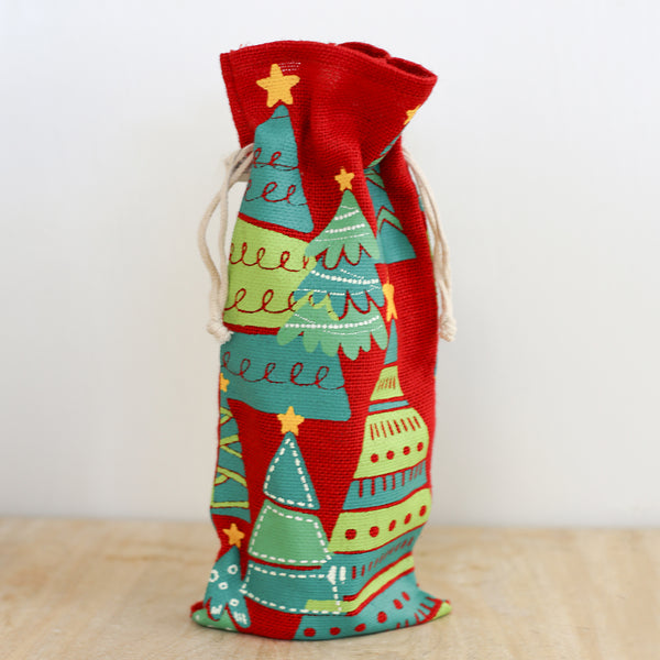 Christmas Tree Balsam Wine Bag
