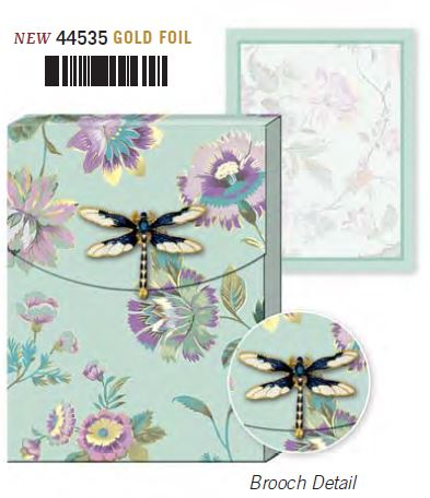 Dragonfly Brooch Note pad
