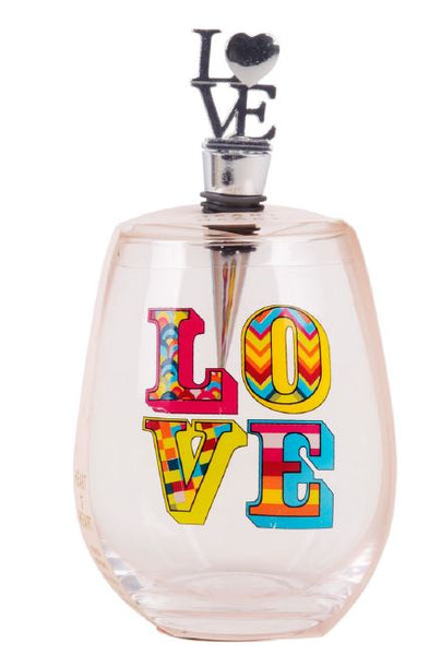LOVE Wine Glass with Stopper