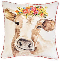 Home Sweet Home Cow Pillow