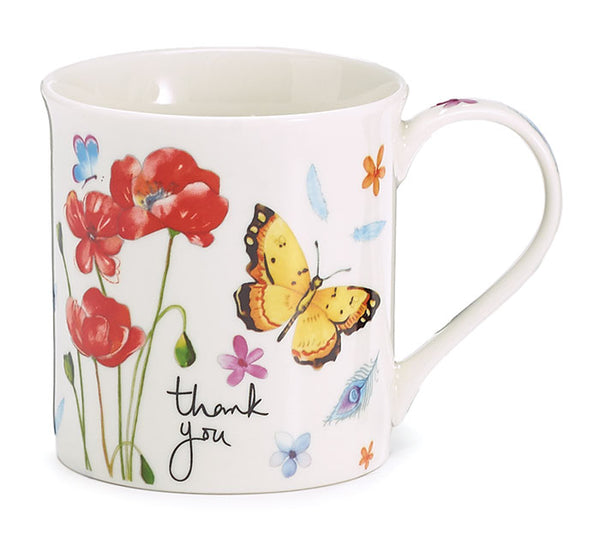 Thank you Butterfly mug w/Gift Caddy