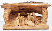 "Large Log Nativity Scene 4""x8"""