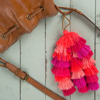Pink Stacked Tassel