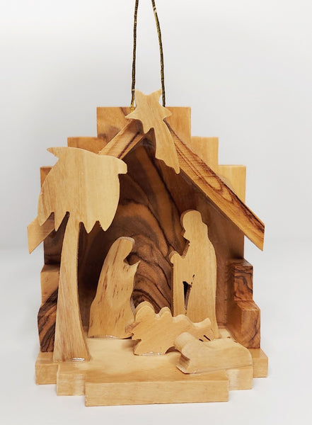Wooden Nativity Scene 3""