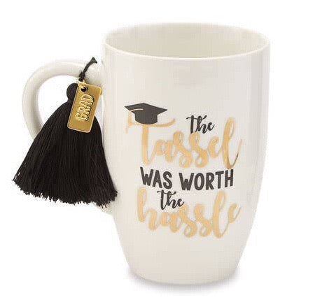 White Graduation Tassel Mug