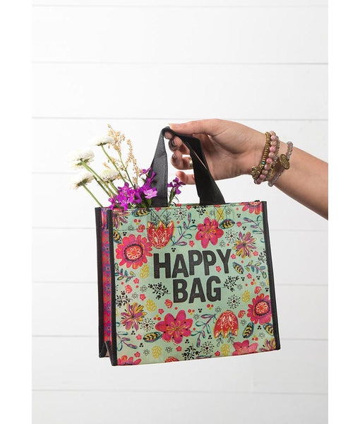 Medium Teal Floral Happy Bag