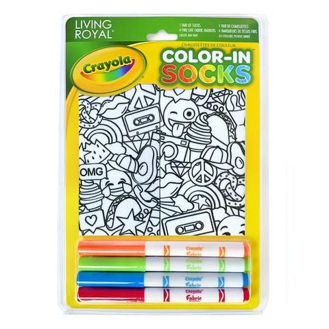 CRAYOLA COLOR-IN STICKERS ANKLE SOCKS