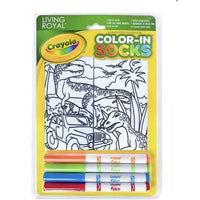 Crayola Color-In Socks Dinosaur Safari