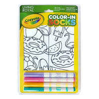 CRAYOLA COLOR-IN POOL PARTY ANKLE SOCKS