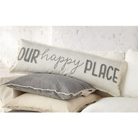 OUR HAPPY PLACE LONG CANVAS PILLOW