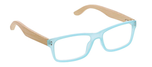 Al Fresco Aqua/Wood Reading Glasses