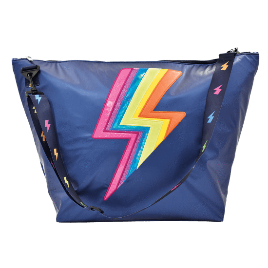 Rainbow Lightning Weekender Bag