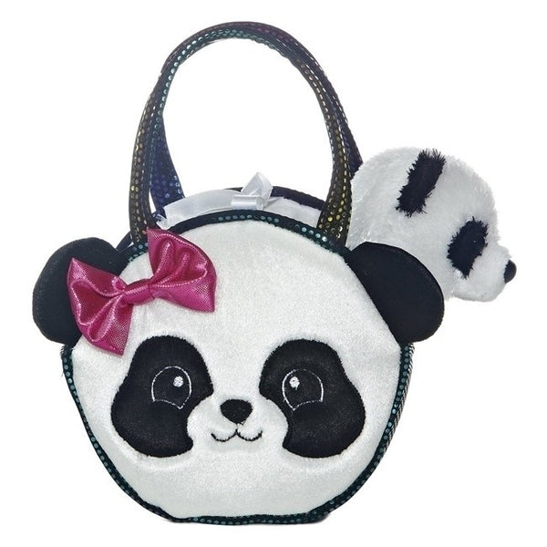 "PRETTY PANDA FANCY PAL PET CARRIER 8"" PLUSH"