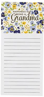 Magnetic notepad - Happiness is being a grandma