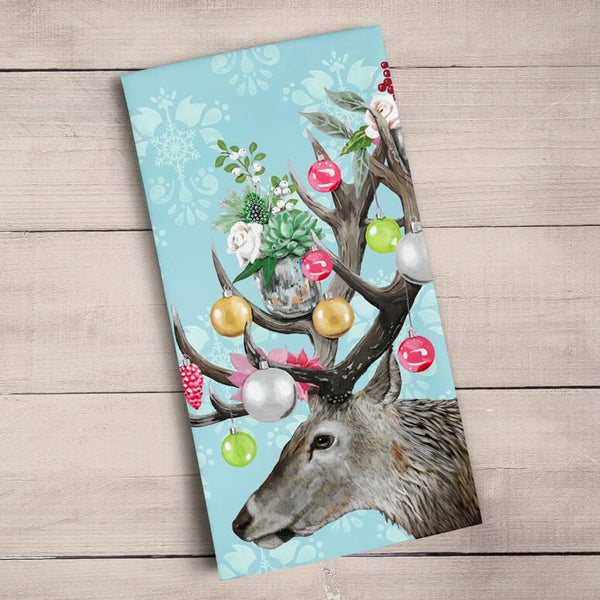 Ornamental Deer Tea Towels