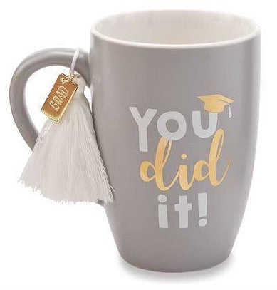 Gray Graduation Tassel Mug
