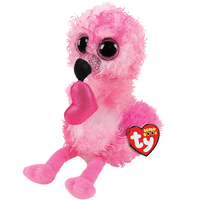 "Dainty Flamingo With Heart 13"" (Large)"
