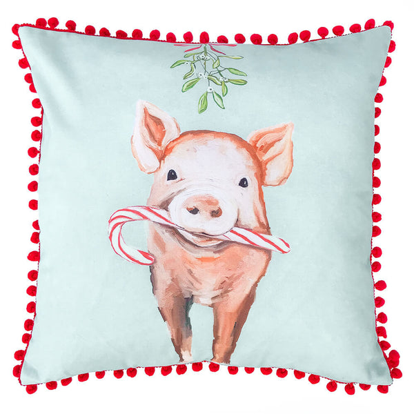 Holiday - Festive Pig Pillow