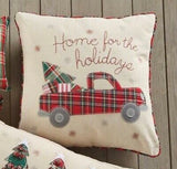 Truck Xmas Applique Pillow