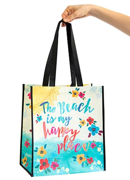 The Beach is my Happy Place Recycled Bag