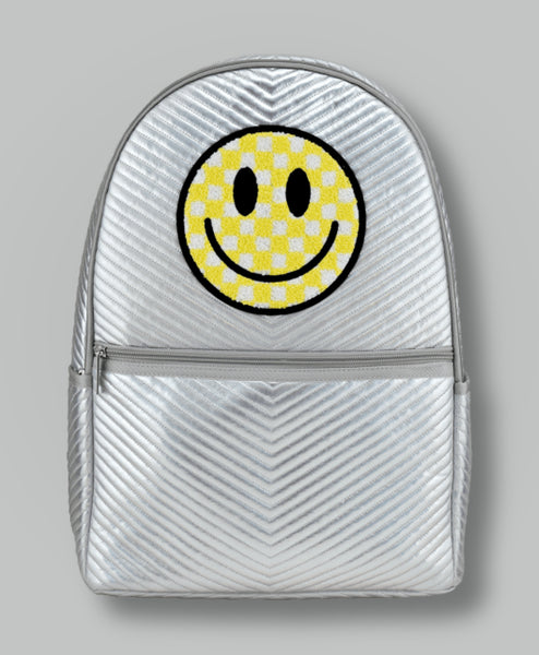 ISCREAM CHECKERED SMILEY FACE CHEVRON BACKPACK