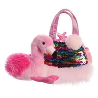 "Fancy Pals - 7"" Shimmers Flamingo Carrier"