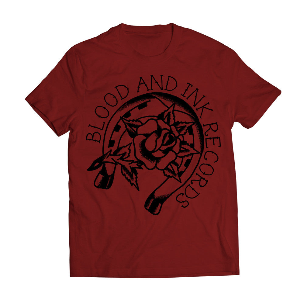 "Blood & Ink Records ""Rose and Horseshoe"" Shirt"