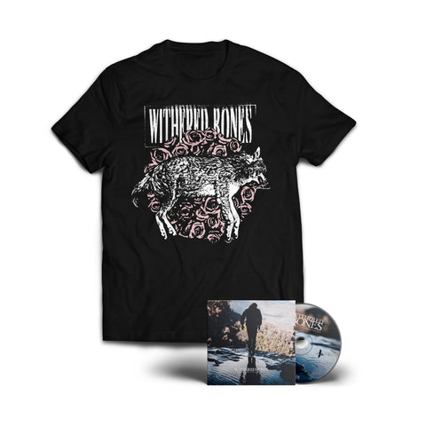 "Withered Bones ""In Search of Self-Evidence"" CD + Wolf Shirt Bundle (PREORDER)"