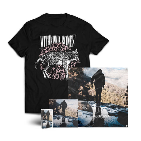 "Withered Bones ""In Search of Self-Evidence"" CD + Tape + Wolf Shirt + Flag Bundle (PREORDER)"