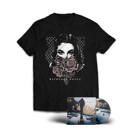 "Tigerwine ""Die With Your Tongue Out"" CD + ""String Hand"" Shirt Bundle (PREORDER)"