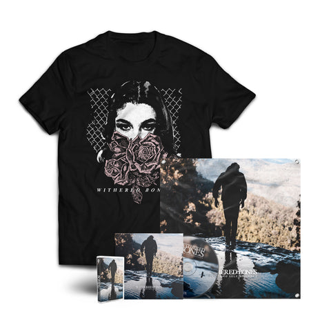 "Withered Bones ""In Search of Self-Evidence"" CD + Tape + Girl Shirt + Flag Bundle (PREORDER)"