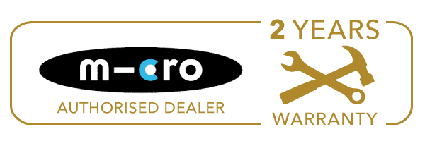 decks and scooters is an authorised dealer reseller of micro, 2 year warranty